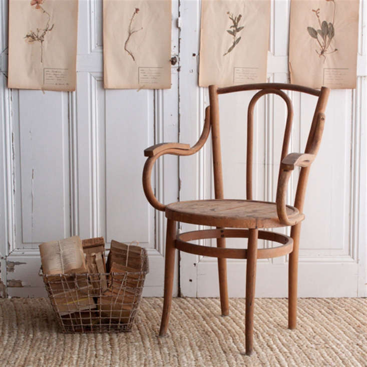 Current Obsessions The Summer Cottage Design sleuth: We love this bentwood armchair from a flea market in Lyon, France, and available at Elsie Green (similar to those seen here).