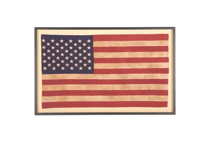 Ethan Allen sells Framed Vintage American Flags of different sizes starting at $899.