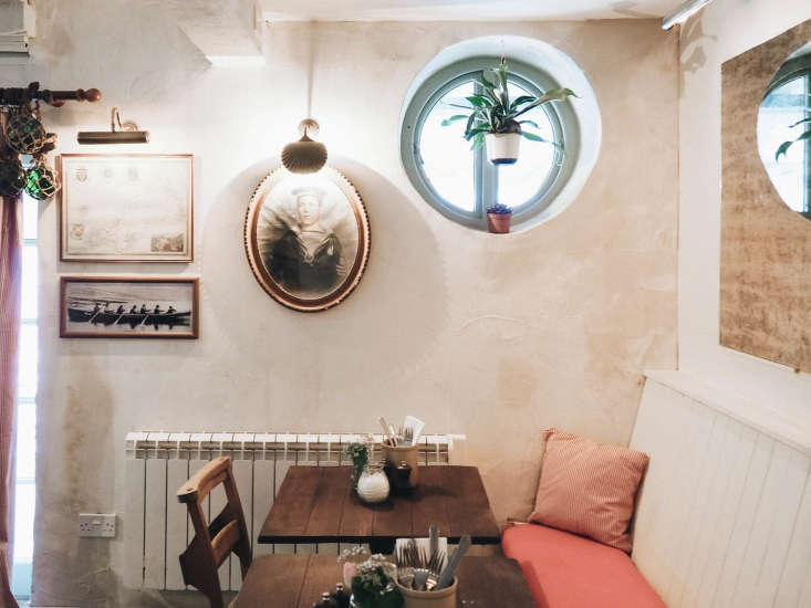 The Ferry Boat Inn 15 Ideas to Steal from a Seaside Pub in Cornwall Small hatch windows, painted in a robin&#8\2\17;s egg blue, is another subtle nautical nod, as are the shell wall lights. (For more, seeBeach House Chic: 9 Inspired Nautical Notes.)