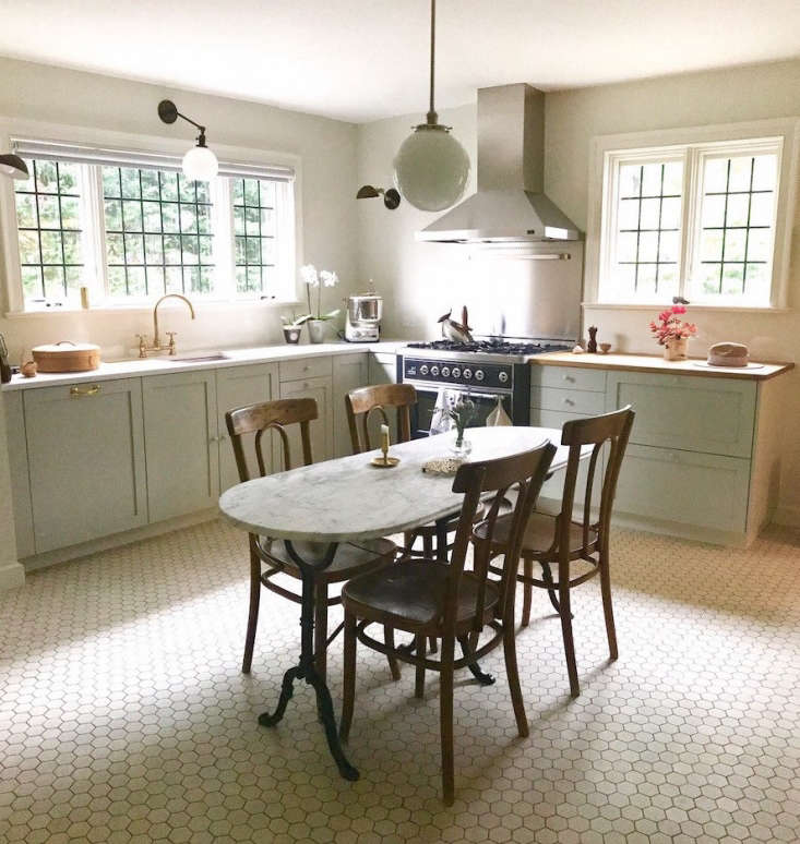 Ellen Lundquist submitted her Scarsdale, New York, kitchen, which she called Two Shades of Gray in a French Eclectic. It was chosen as a finalist by Sam Hamilton, who said: &#8