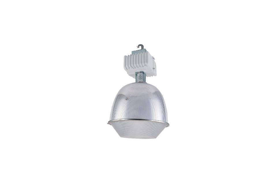 The large ceiling fixture is a commercialHigh Bay Metal Halide Lamps with a clear acrylic lens ($3 each at All Discount Lighting). It&#8