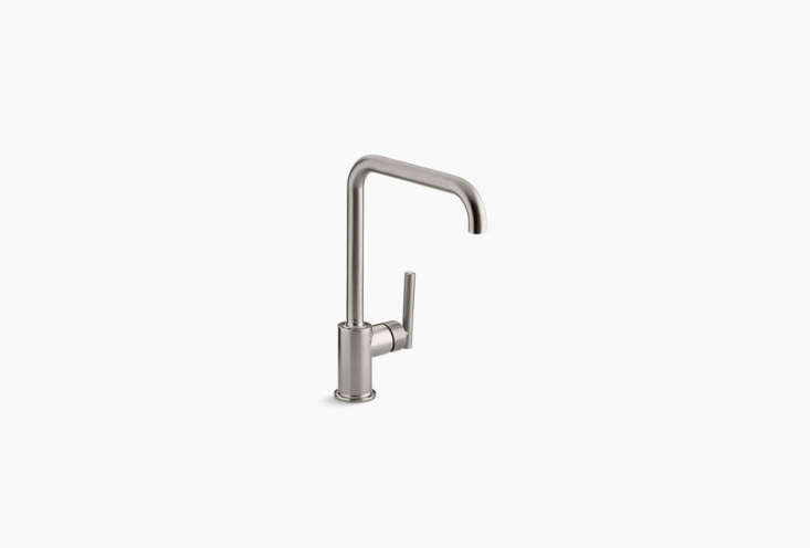 Kohler'sPurist Single-Hole Kitchen Sink Faucet with an eight-inch spout is $495.05.