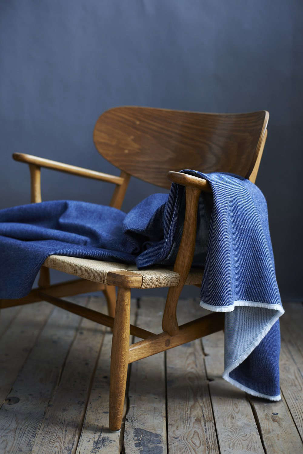 All soft goods in the collection, including the Lane X London Cloth Indigo Cotton Throw, are made using dyes extracted from plants of the genus Indigofera, known for its rich, deep hue; £0 ($7.src=