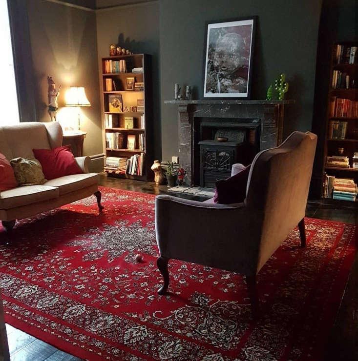 living room awards uk red carpet dark walls