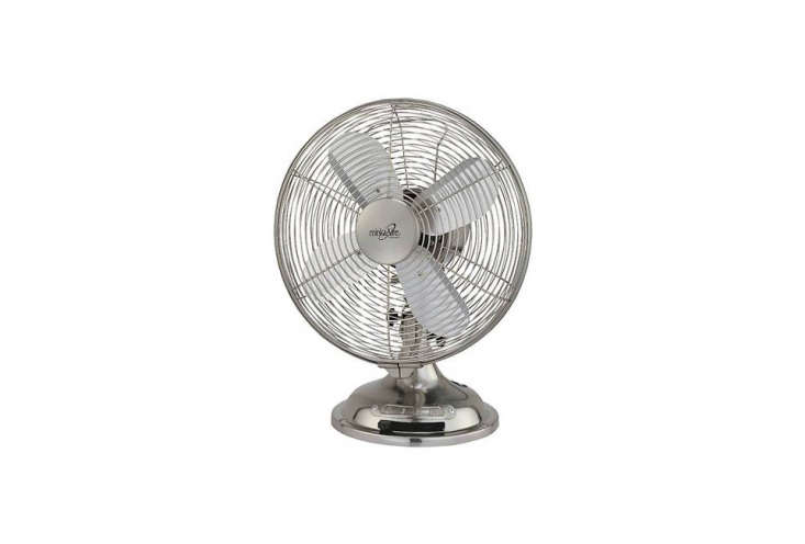 theretro table top fan by minka air is made of solid steel and has three spee 11