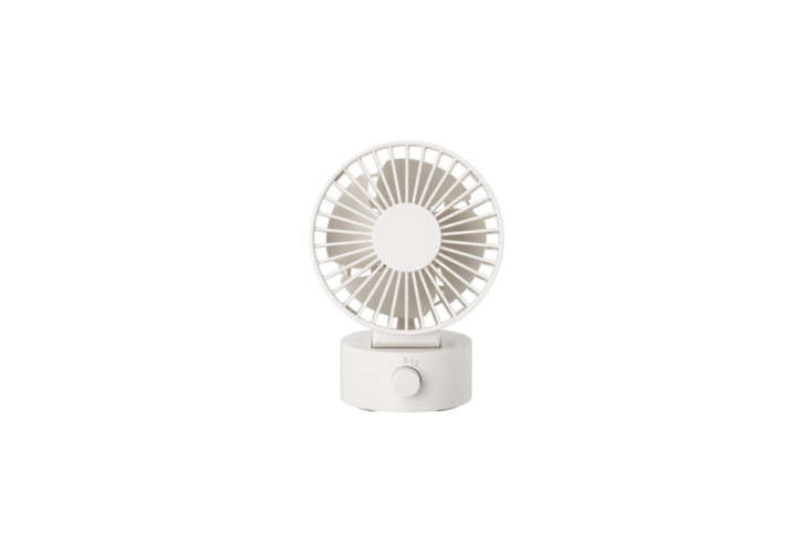 theusb desk fan from muji has two separate sets of blades for maximum air cir 18