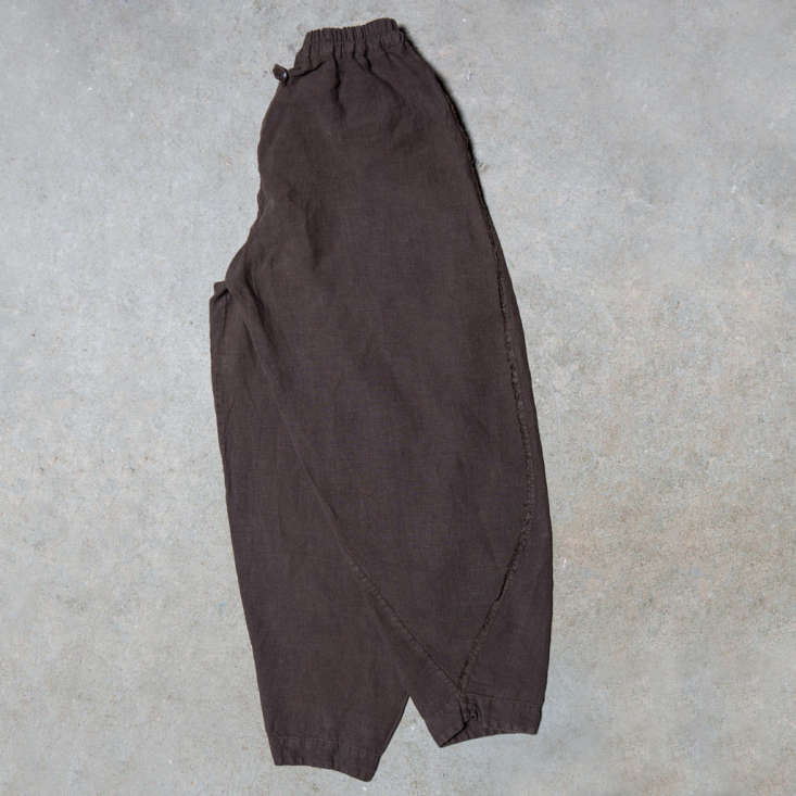 The bottoms, in brown.