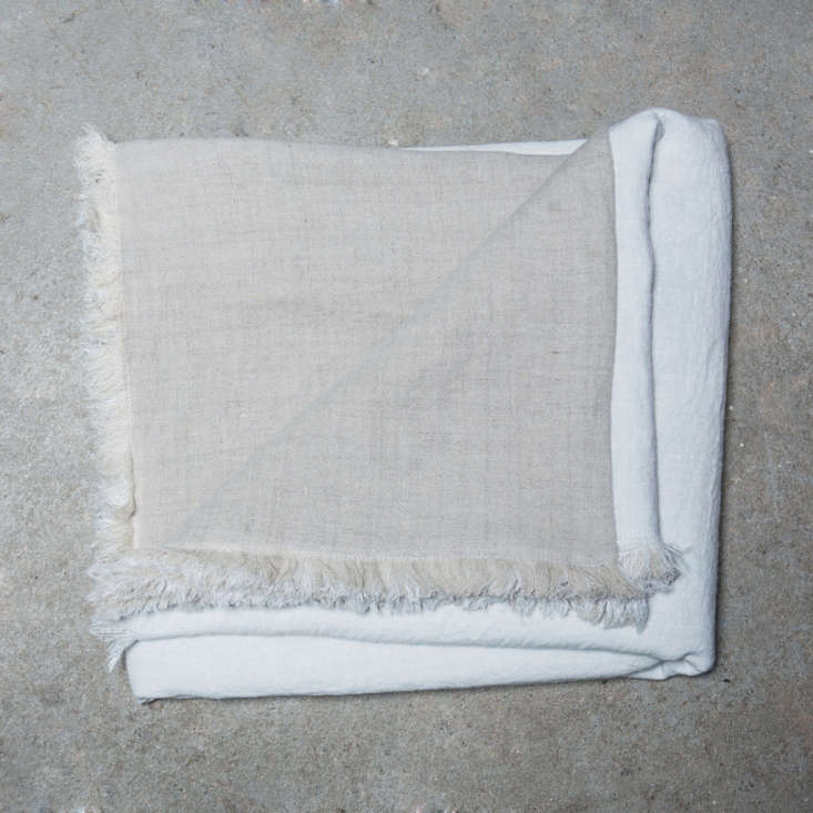 The throw in natural and white; €0 ($3).