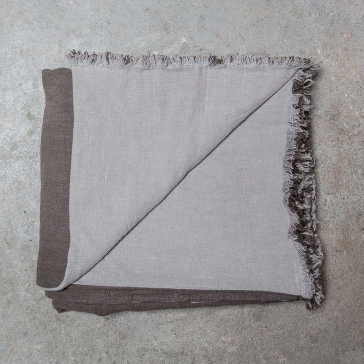 thetoogood doubled throw, made of \100 percent italian linen, is available in 10