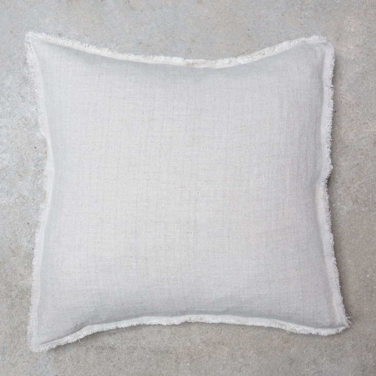 The Toogood Linen Oxford Cushion in white; €58 ($67.5