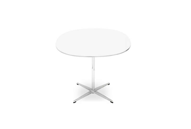 Designed by Piet Hein in collaboration with Bruno Mathsson and Arne Jacobsen, the Supercircular Table in White is $loading=