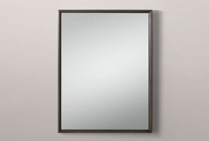 The Metal Beveled Mirror, shown in Raw Steel, is $4loading=