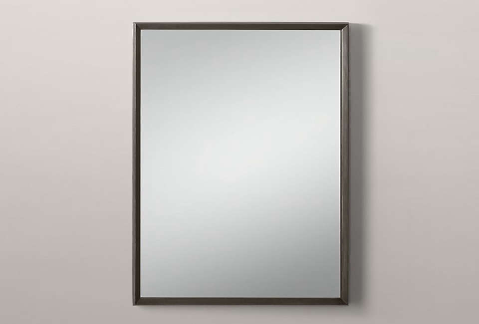 The Metal Beveled Mirror, shown in Raw Steel, is $4src=