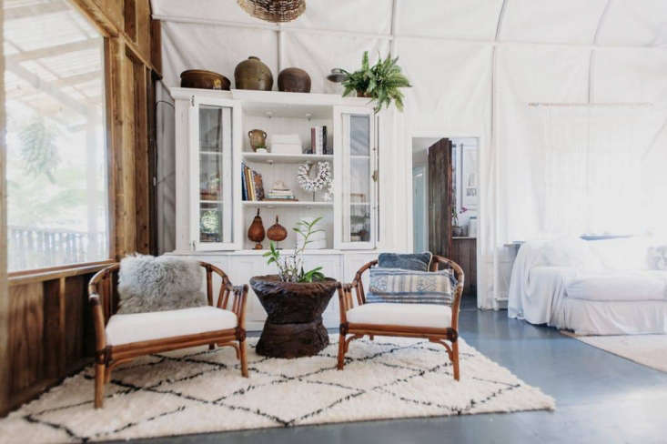 rustic living bedroom cane chairs ourani rug