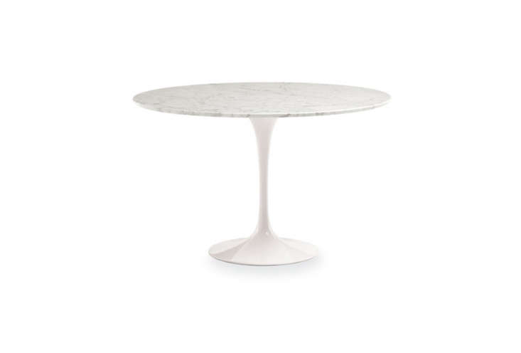 The Saarinen Dining Table in Marble is available at Room & Board for $