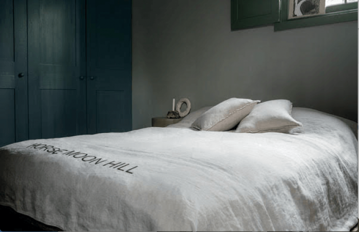 The Horse, Moon, Hill bedding collection was inspired by Toogood and Once Milano&#8