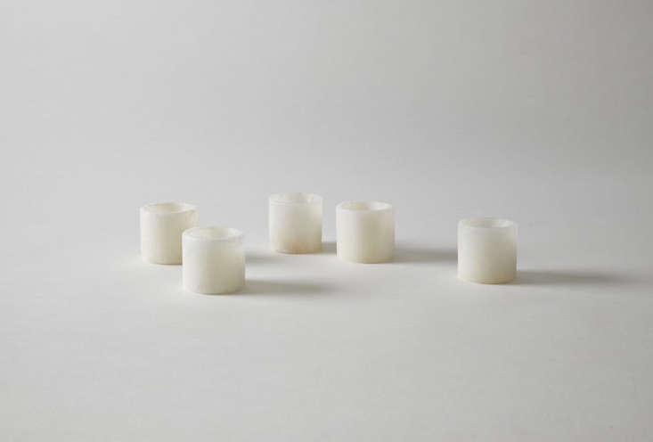 White Onyx Votive Holders are $ each at March.