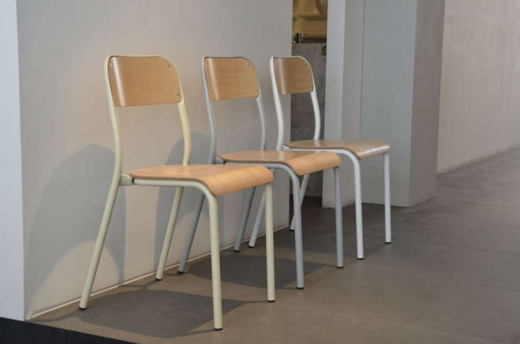 made in belgium, thezangra stackable wood school chaircomes in an array of  13
