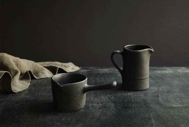 Teracotto Minis by Fiorira Un Giardino are made of black terracotta; 9 SEK ($30.55 USD) for the Milk Mug at Artilleriet.