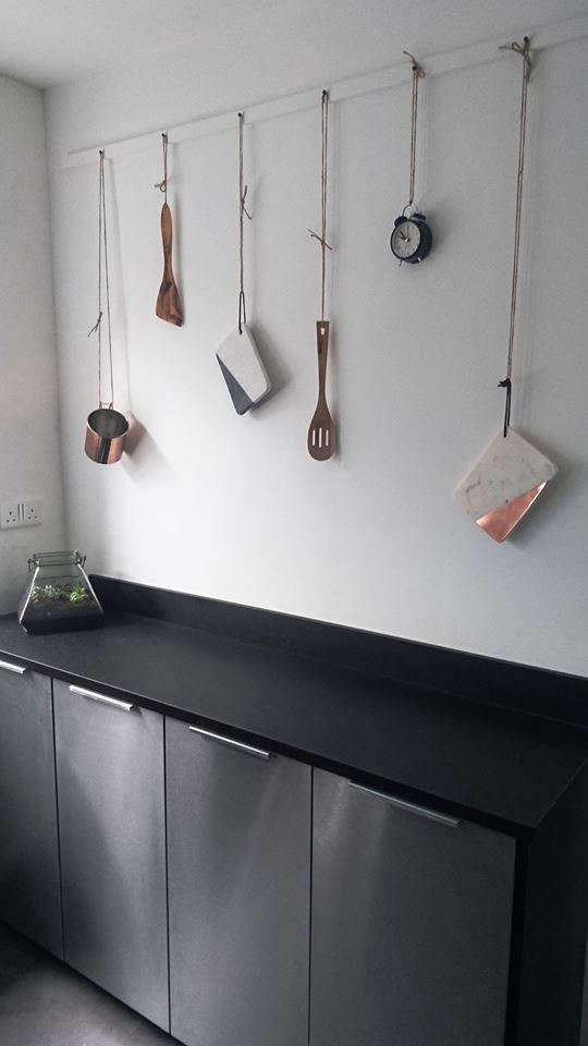 awards uk kitchen black countertop hanging rail stainless cabinets