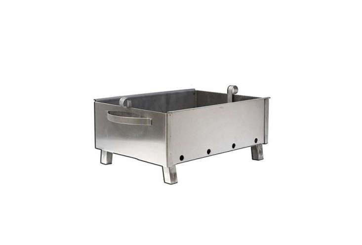 For a countertop option, the stainless steel Kavkaz Mini Grill measures  inches wide and loading=