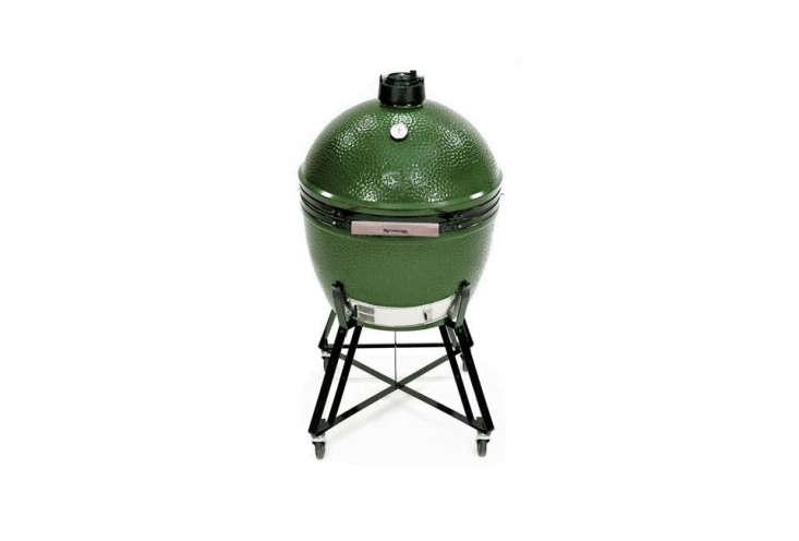 A modern version of a Japanese kamado cooker, a wood- or charcoal-fired earthen vessel capable of achieving both high and low temperatures for greater control, the Big Green Egg comes in five sizes, from mini to extra large. The Extra-Large Big Green Egg is $loading=
