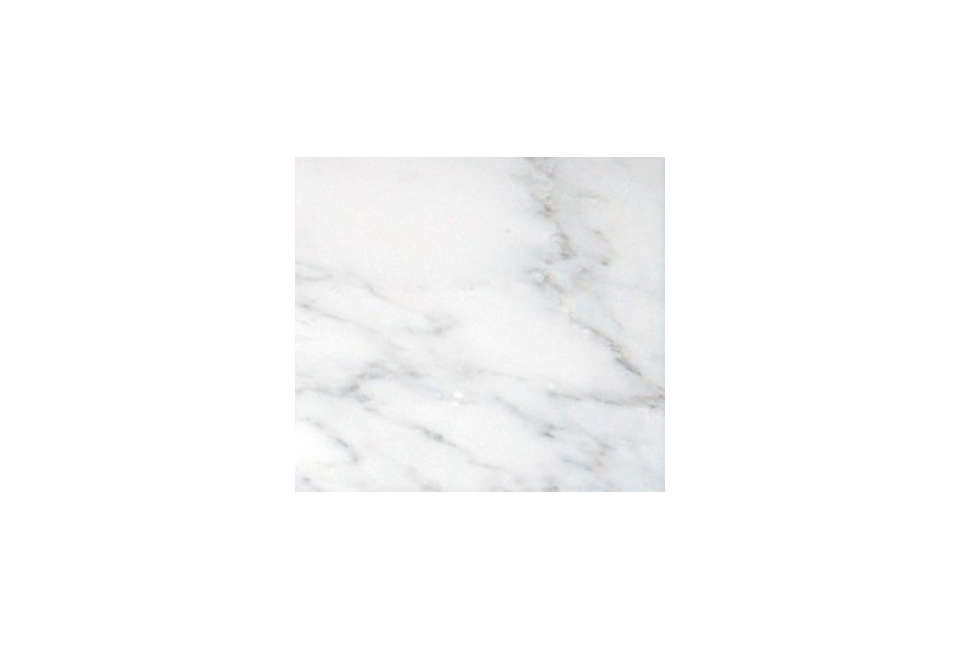 Countertops, backsplash, and floating shelf are all Carrara marble. Agonizing over your own counters? See Remodeling src=