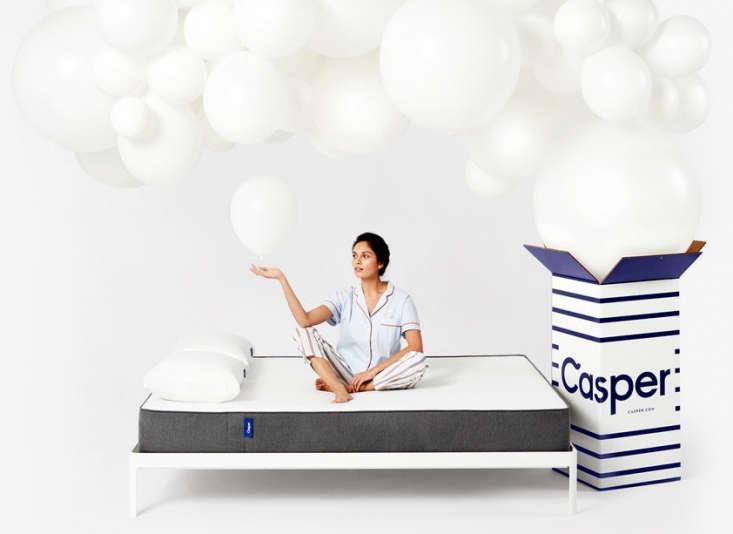 casper mattress balloons bed frame white