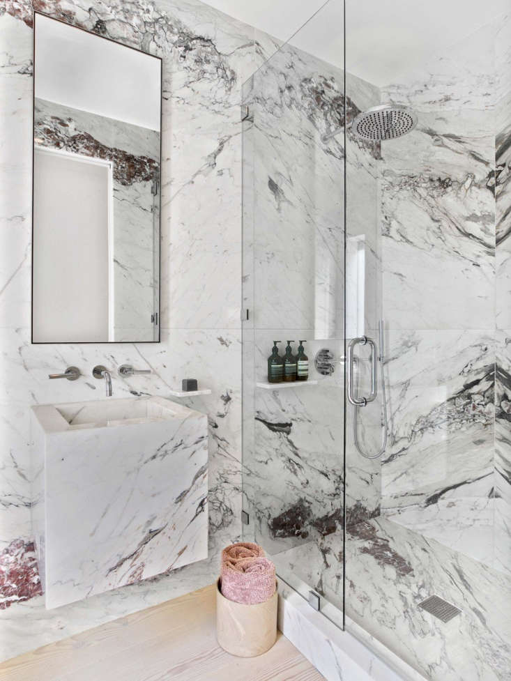 ccs awards white gray burgundy marble bathroom wood floor 2