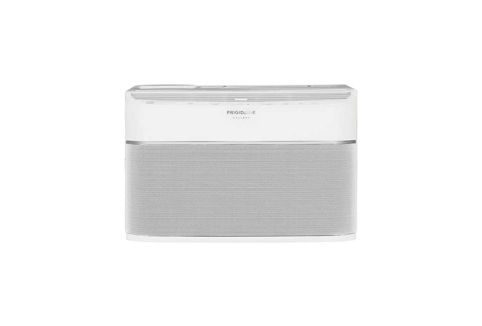 The app-enabled Frigidaire Cool Connectgets high marks for its low-profile mesh front. The 8,000-BTU unit will cool and dehumidify a room up to 350 square feet; it&#8