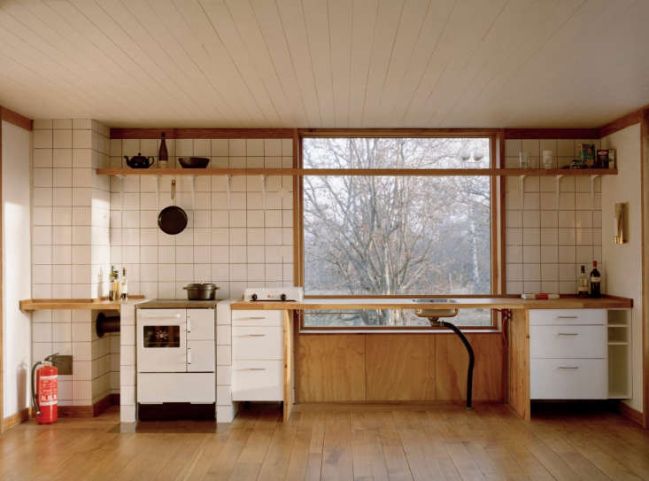 The simple, unfitted kitchen.