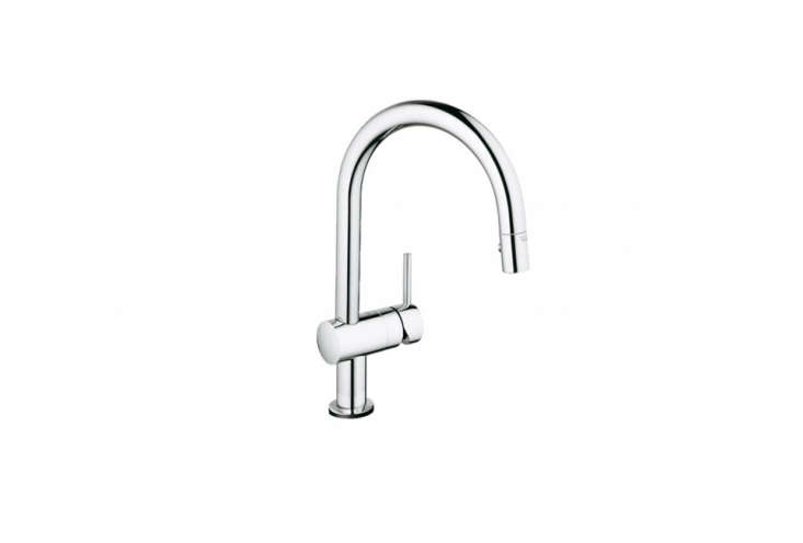 The Minta Touch pull-down faucet from Grohe starts at $6.30 for the chrome finish from Faucet Direct.