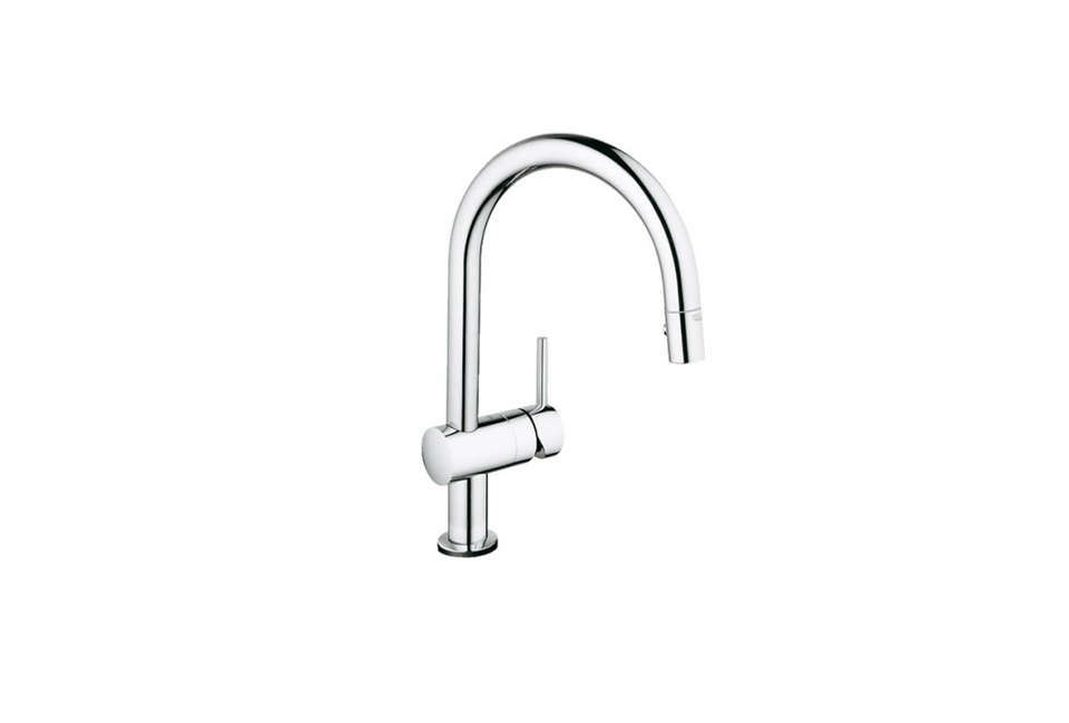Cameron Helland of Sagan Piechota likes the Grohe Minta Touch pull-down faucet, starting at $6.30 for the chrome finish from Faucet Direct.