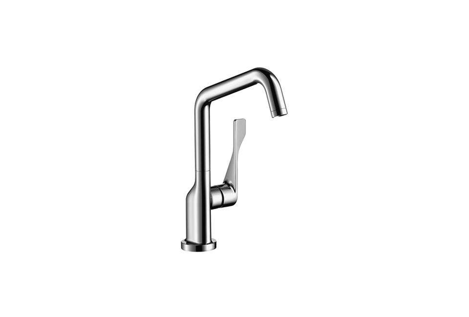 Jennifer Beningfield of Openstudio Architects in London uses the Axor Citterio faucet from Hansgrohe in budget-conscious projects; $48