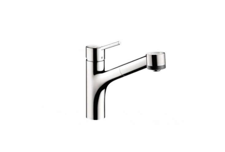 Lauren Rubin of NYC firm Lauren Rubin Architecturealways opts for function first in kitchen faucets. &#8