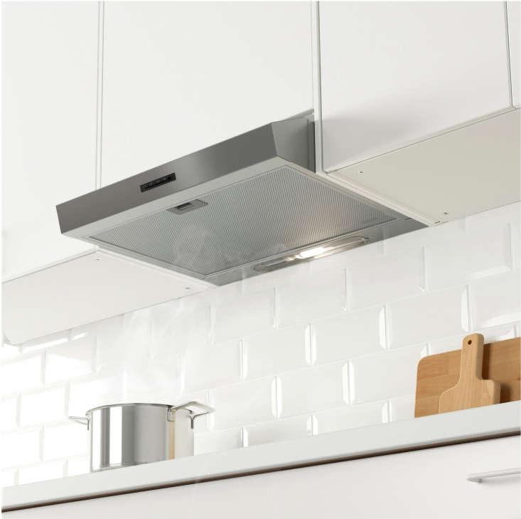 The Eventuell Built-In Extractor Hood in stainless steel is $395 at Ikea.