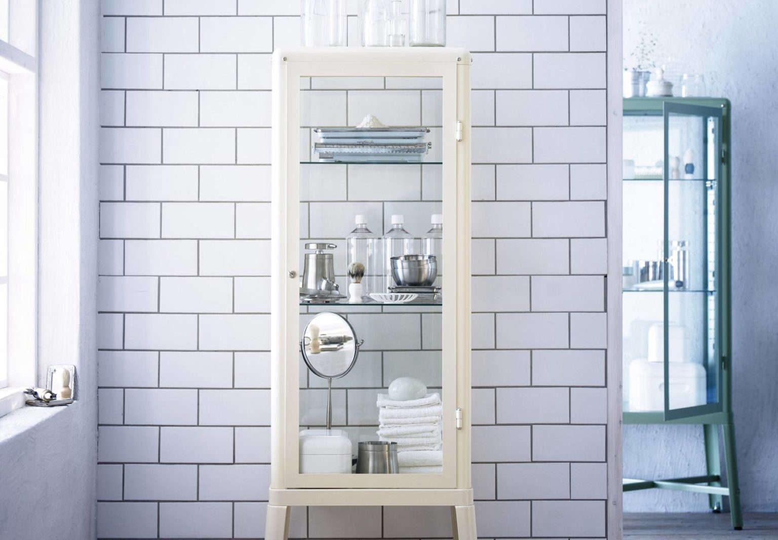Medical Style Metal And Glass Cabinet Vitrine