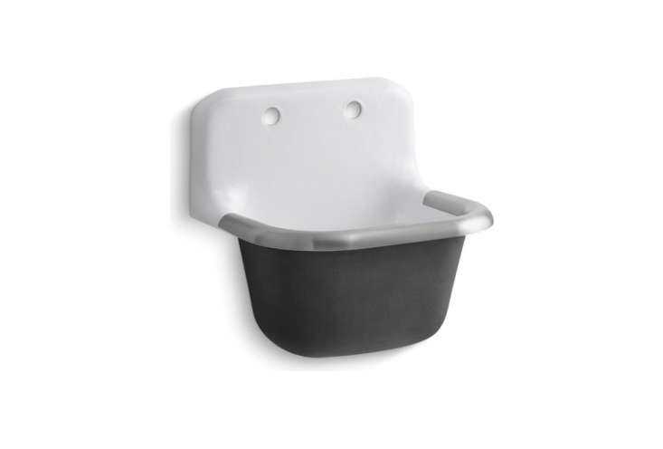 the kohler bannon \24 inch wall mount service sink has the feel of a vintage ut 16