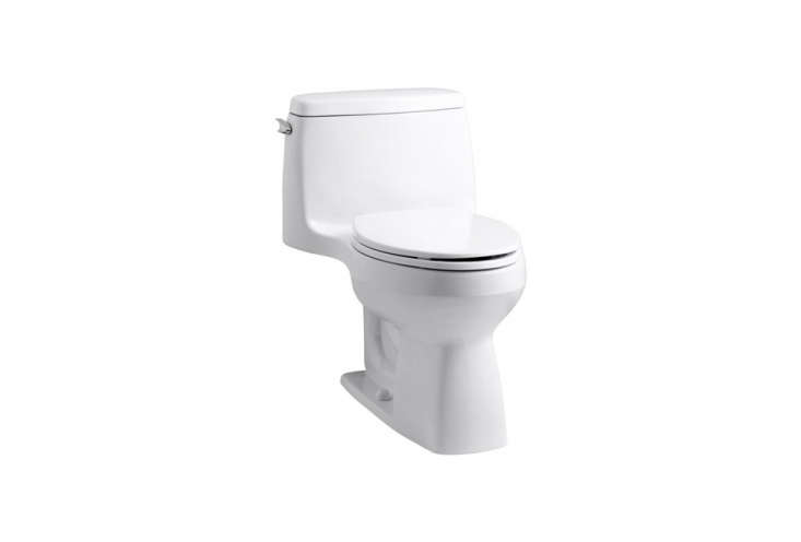thekohler santa rosa comfort height toiletan elongated model but compact, m 9