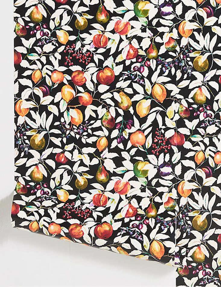 the boldliberty london fruit billett wallpaper in banquet room black is \$\2\ 11