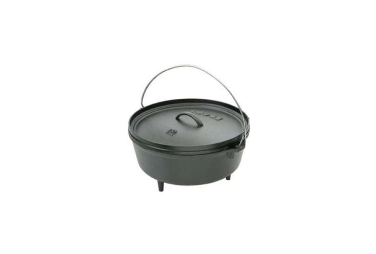 Lodge Logic Six-Quart Camp Dutch Oven for campfire or fireplace cooking; $67.7