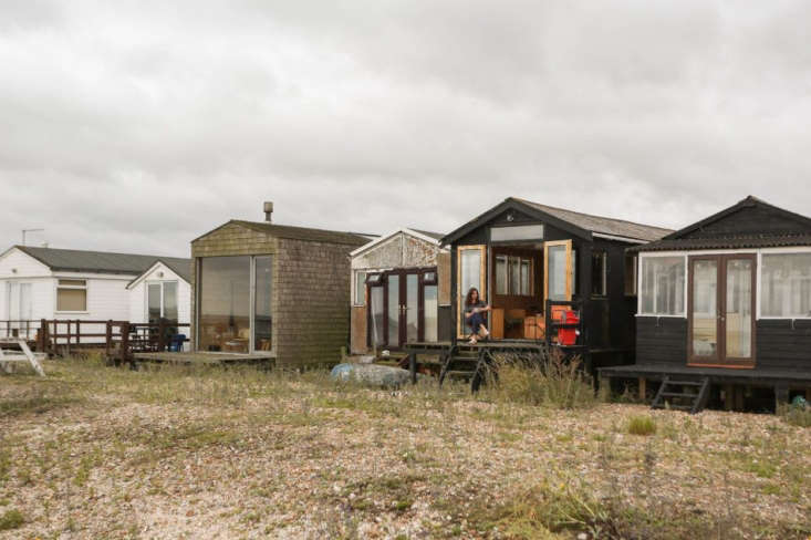 Two London Creatives Shore Up a Tiny Beach House Ikea Hack Kitchen Included Marcia and Durrell&#8\2\17;s house is second from right—that&#8\2\17;s Marcia on the porch. The pale shingled house with the glass door belongs to their friends Nina Tolstrup and Jack Mama of Remodelista favorite Studiomama.