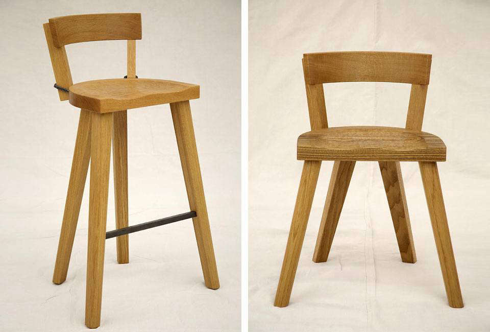 the bar stool (left) is \$975 and has a 30 inch high seat. the marolles chair w 11