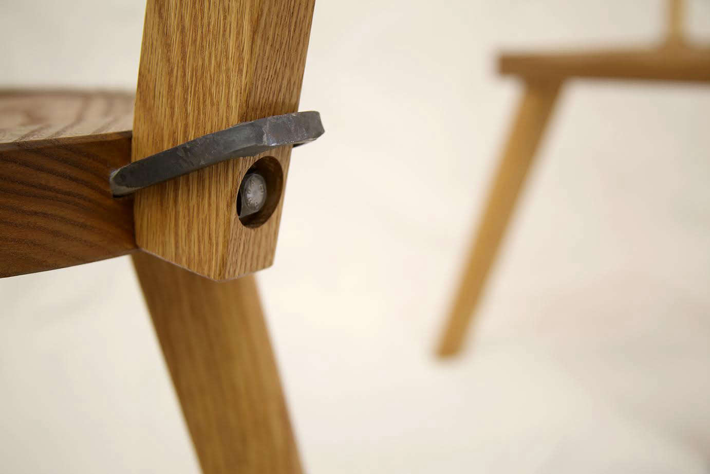 the iron details of the chair; the original marolles chair was made of red oak, 12