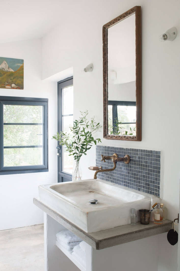 the master bath was created from what had been a balcony—the door to the left 20