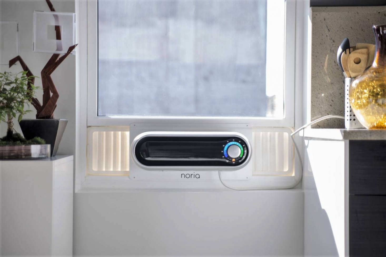 The Noria Smart Air Conditionerwas funded on Kickstarter and will be available in spring , as seen in 4 Attractive Window Air Conditioners, High to Low.