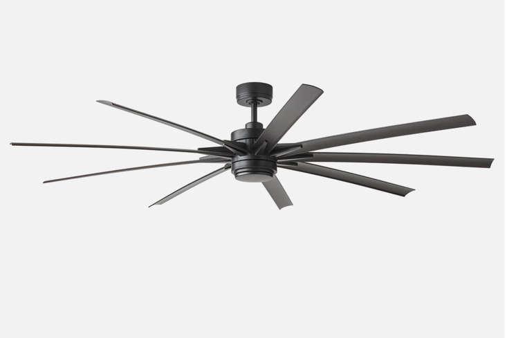 the odyn 84 inch led ceiling fan matte black is \$799 at schoolhouse. 15