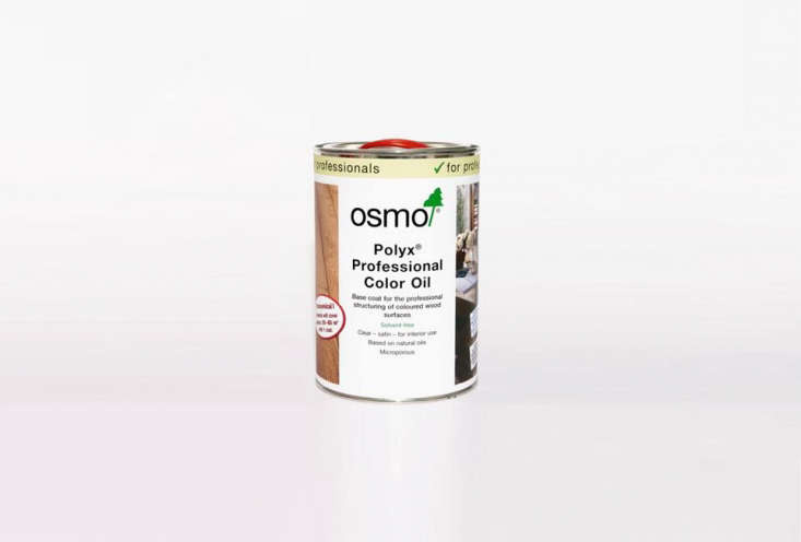 The darker plywood is stained with Osmo Polyx Professional Color Oil in Charcoal 54; $.95 for a 0.loading=