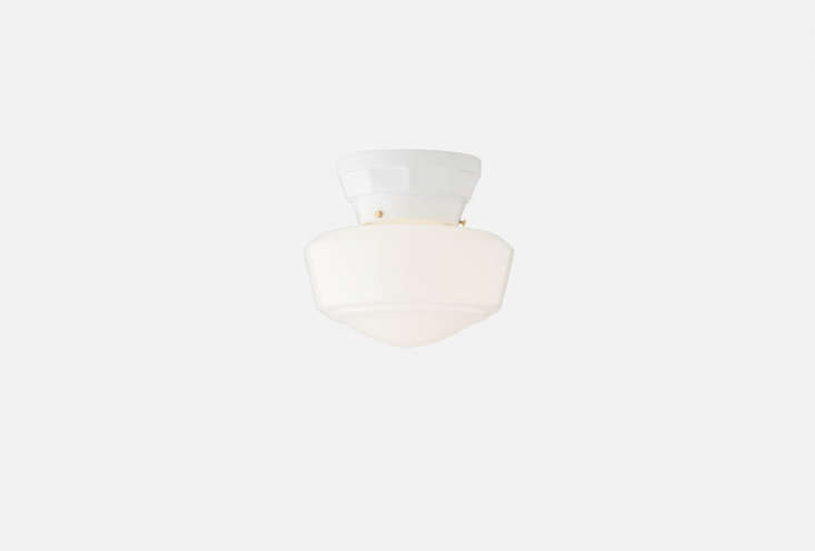 the norfolk 4 inch ceiling light has a retro appeal; \$\179 at schoolhouse elec 18