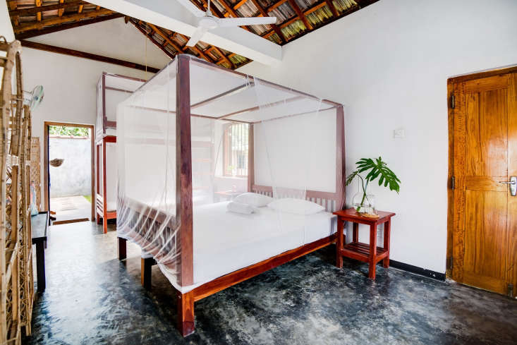 Guests stay in communal rooms for two to six with mosquito-netted beds built to Petter and Linn&#8